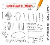 isolated pencil or chalk hand... | Shutterstock .eps vector #526245964