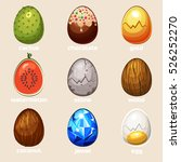 cartoon texture eggs in vector  ...