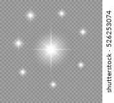 star light effect. vector... | Shutterstock .eps vector #526253074