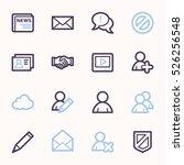 community. social media icons... | Shutterstock .eps vector #526256548