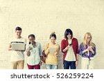 diversity friends using digital ... | Shutterstock . vector #526259224