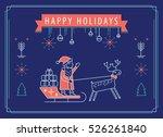 christmas greeting card vector. ... | Shutterstock .eps vector #526261840