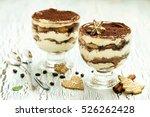 italian chocolate and cream... | Shutterstock . vector #526262428