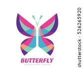 butterfly vector logo concept...   Shutterstock .eps vector #526265920