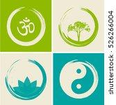 vector spiritual logos set... | Shutterstock .eps vector #526266004