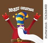 vector rock n roll santa claus...   Shutterstock .eps vector #526266400