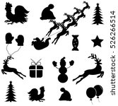 a set of christmas icons black...   Shutterstock .eps vector #526266514