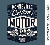 motor speedway typography  t... | Shutterstock .eps vector #526266664