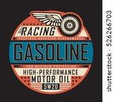 racing gasoline motor...   Shutterstock .eps vector #526266703