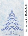 abstract christmas tree and... | Shutterstock . vector #526267636