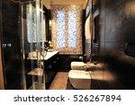italian bathroom with black... | Shutterstock . vector #526267894