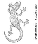 lizard coloring book for adults ... | Shutterstock .eps vector #526269100