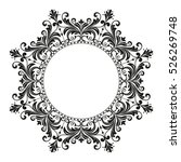 decorative line art frames for... | Shutterstock .eps vector #526269748