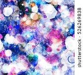 watercolor effect galaxy... | Shutterstock .eps vector #526269838