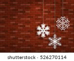 paper snowflakes hanging on the ...   Shutterstock .eps vector #526270114
