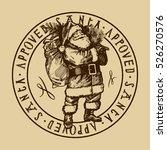Santa Approved Stamp. Vintage...