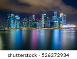 landscape of the singapore... | Shutterstock . vector #526272934