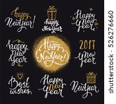 happy new year lettering.... | Shutterstock .eps vector #526276660