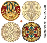 abstract celtic color design... | Shutterstock .eps vector #52627738
