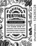 vintage christmas festival... | Shutterstock . vector #526283128