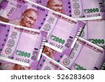 indian currency  two thousand...   Shutterstock . vector #526283608
