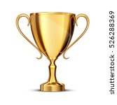 gold cup isolated on white... | Shutterstock .eps vector #526288369