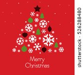 merry christmas card with... | Shutterstock .eps vector #526288480