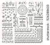 hand drawn textures and brushes.... | Shutterstock .eps vector #526288633