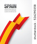 spanish flag on a white... | Shutterstock .eps vector #526290358
