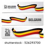 belgium national day. july 21 | Shutterstock .eps vector #526293700