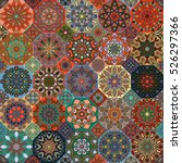 colorful vintage seamless... | Shutterstock .eps vector #526297366