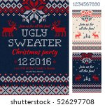 merry christmas party... | Shutterstock .eps vector #526297708
