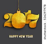 2017   happy new year design  ... | Shutterstock .eps vector #526297978
