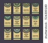 vintage banners cards set.... | Shutterstock .eps vector #526300180