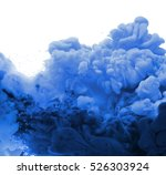 acrylic colors in water.... | Shutterstock . vector #526303924
