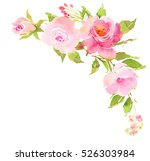 flower bohemian bouquet with... | Shutterstock . vector #526303984