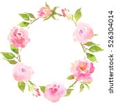 flower bohemian wreath with... | Shutterstock . vector #526304014