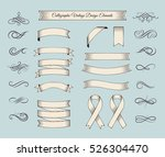 ribbon vintage banners and... | Shutterstock .eps vector #526304470