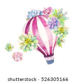 Watercolor Bright Card With Hot ...