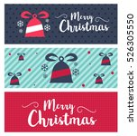 merry christmas and happy new... | Shutterstock .eps vector #526305550