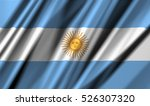 argentina flag of silk | Shutterstock . vector #526307320