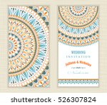 set of vintage wedding... | Shutterstock .eps vector #526307824