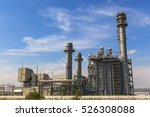 gas turbine electrical power... | Shutterstock . vector #526308088