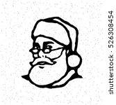 santa claus head cartoon... | Shutterstock .eps vector #526308454