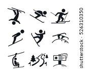 extremal winter sports icons | Shutterstock .eps vector #526310350