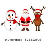 santa claus with reindeer and a ... | Shutterstock .eps vector #526313908