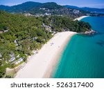 two tropical white sandy... | Shutterstock . vector #526317400