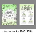 brochure with cosmetic bottles. ... | Shutterstock .eps vector #526319746