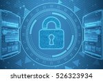 security concept  lock on... | Shutterstock . vector #526323934