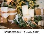 christmas decorations ... | Shutterstock . vector #526325584